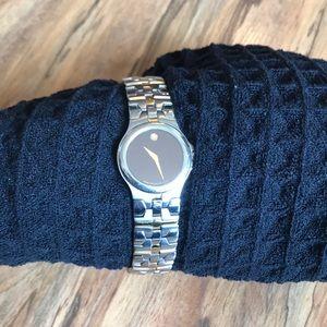 Movado two tone watch